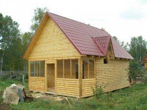 Сруб дачного дома