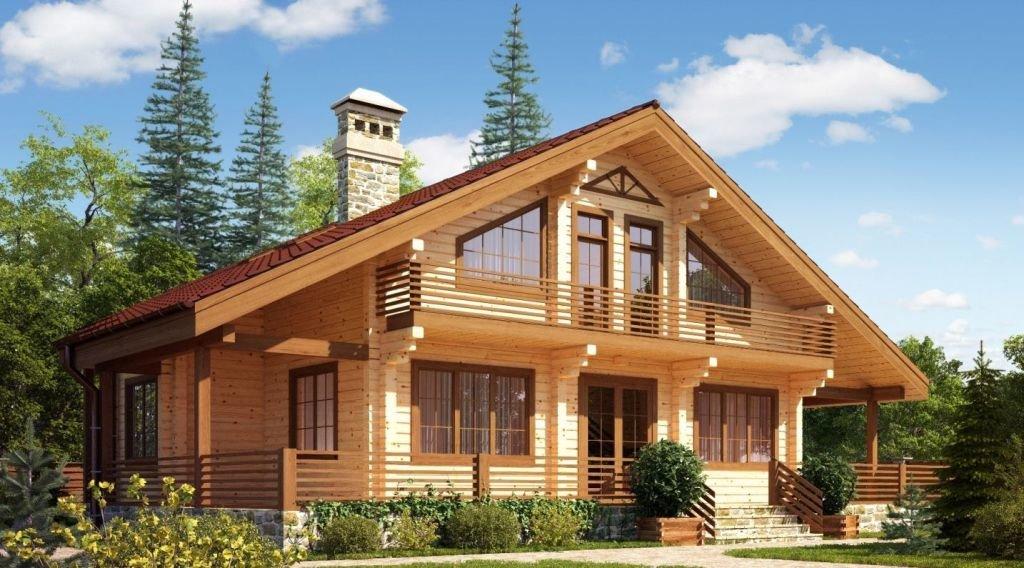 Дом из клееного бруса коттедж из